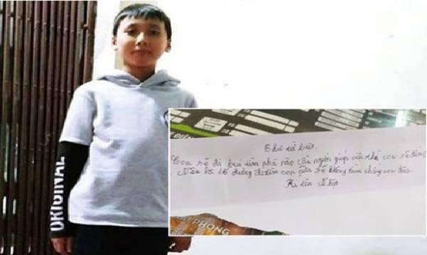 Cậu bé 11 tuổi viết 'thư từ biệt' bỏ nhà đi 'lập nghiệp' đã trở về nhà
